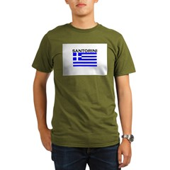 Santorini, Greece Organic Men's T-Shirt (dark)