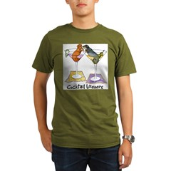 Double Cocktail Wiener Organic Men's T-Shirt (dark)