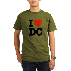 I Love DC Organic Men's T-Shirt (dark)