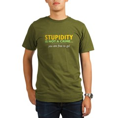 Stupidity - Men''s Organic Men's T-Shirt (dark)
