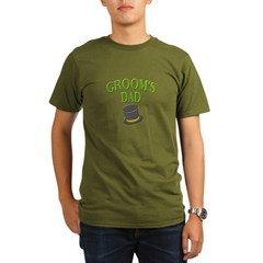 Groom's Dad(hat) Organic Men's T-Shirt (dark)