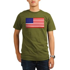 American Fla Organic Men's T-Shirt (dark)