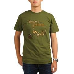 Happiness is a giraffe Organic Men's T-Shirt (dark)