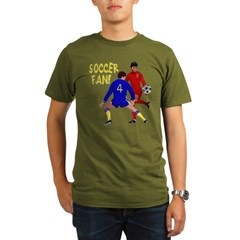 ...Soccer Fan... Organic Men's T-Shirt (dark)