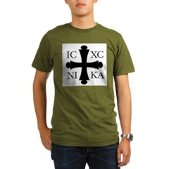 ICXC NIKA Organic Men's T-Shirt (dark)