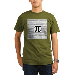 Pi to 5,000 places T-shirts a Organic Men's T-Shirt (dark)