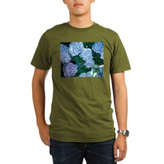 Blue Hydrangea Organic Men's T-Shirt (dark)