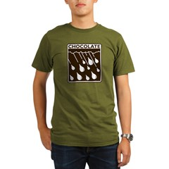 'Rain Drop Chocolate' Organic Men's T-Shirt (dark)
