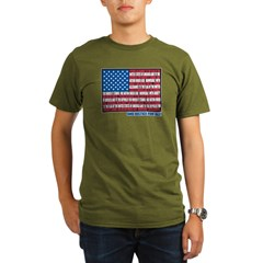 Flag Pledge of Allegiance Organic Men's T-Shirt (dark)