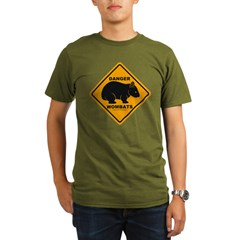 Wombat Danger Organic Men's T-Shirt (dark)