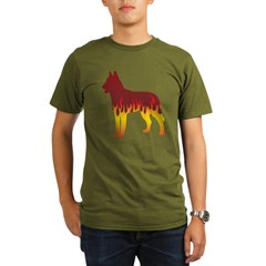 Laekenois Flames Organic Men's T-Shirt (dark)