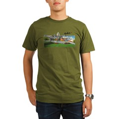 Old Quebec Pano with Signatur Organic Men's T-Shirt (dark)