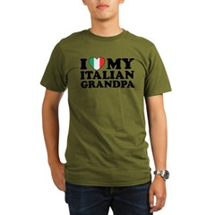 I Love My italian Grandpa Organic Men's T-Shirt (dark)