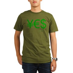 Yen Euro Dollar Organic Men's T-Shirt (dark)