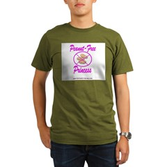 Peanut-Free Princess Organic Men's T-Shirt (dark)