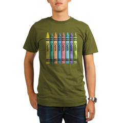 Colorful Crayons Organic Men's T-Shirt (dark)