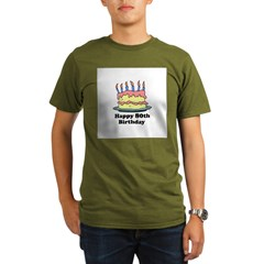 Happy 80th Birthday Organic Men's T-Shirt (dark)