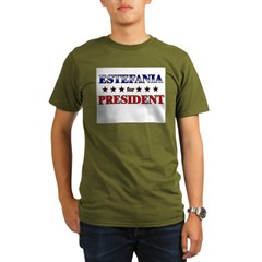 ESTEFANIA for president Organic Men's T-Shirt (dark)