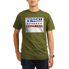 TRISH for congress Organic Men's T-Shirt (dark)