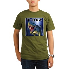 T-Rex 3 Organic Men's T-Shirt (dark)