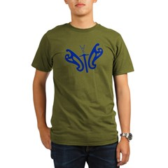 Design Flies Organic Men's T-Shirt (dark)