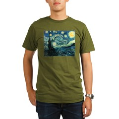 Vincent van Gogh's Starry Nigh Organic Men's T-Shirt (dark)