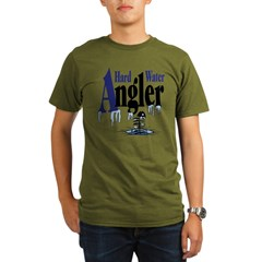 Hard Water Angler Organic Men's T-Shirt (dark)