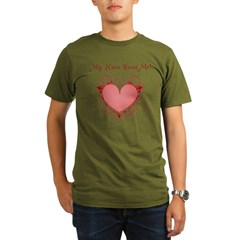 My Niece Loves Me Heart Organic Men's T-Shirt (dark)