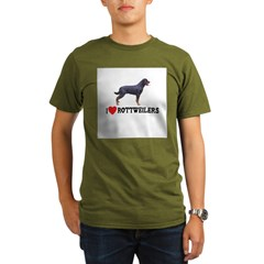 I Love Rottweilers Organic Men's T-Shirt (dark)
