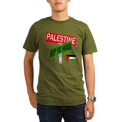 REP PALESTINE Organic Men's T-Shirt (dark)