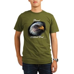 Proud Soldiers Dad (eagle/fla Organic Men's T-Shirt (dark)