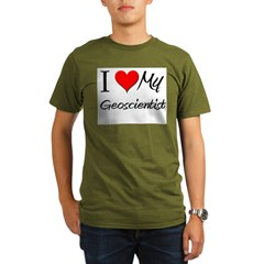 I Heart My Geoscientis Organic Men's T-Shirt (dark)