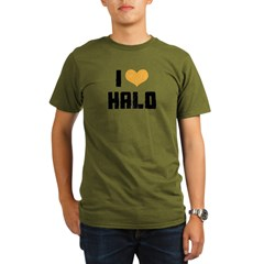 I Heart Halo Organic Men's T-Shirt (dark)