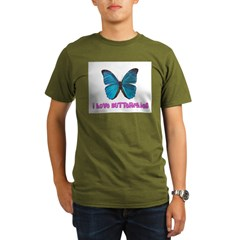 I Love Butterflies Organic Men's T-Shirt (dark)