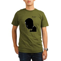 Barack Obama Hope Organic Men's T-Shirt (dark)