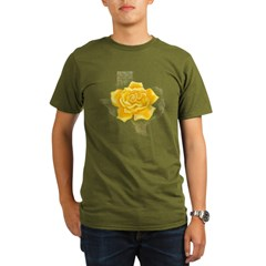Yellow Rose of Texas Organic Men's T-Shirt (dark)