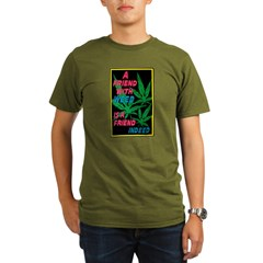Friend With Weed Organic Men's T-Shirt (dark)