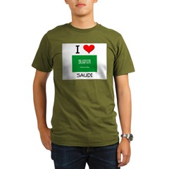 I Love Saudi Organic Men's T-Shirt (dark)
