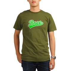 Retro Bree (Green) Organic Men's T-Shirt (dark)