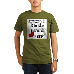 Someone in Rhode Island Organic Men's T-Shirt (dark)