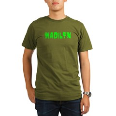 Madilyn Faded (Green) Organic Men's T-Shirt (dark)