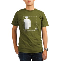 I Just Cropped Myself Organic Men's T-Shirt (dark)