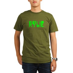 Rylie Faded (Green) Organic Men's T-Shirt (dark)