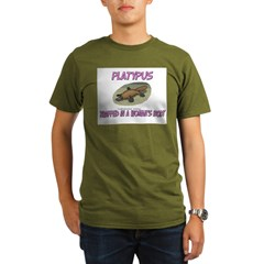 Platypus Trapped In A Woman's Body Organic Men's T-Shirt (dark)