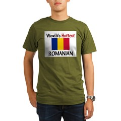 World's Hottest Romanian Organic Men's T-Shirt (dark)