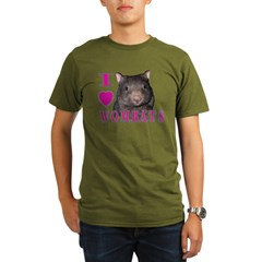 I Love ( Heart ) Wombats Organic Men's T-Shirt (dark)