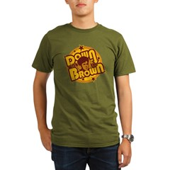 Down with the Brown Organic Men's T-Shirt (dark)