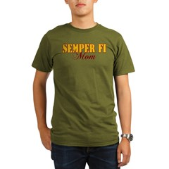 Semper Fi Mom Organic Men's T-Shirt (dark)