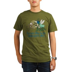 Bitten by Genealogy Bug Organic Men's T-Shirt (dark)