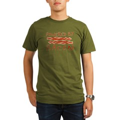 Powered By Bacon Organic Men's T-Shirt (dark)